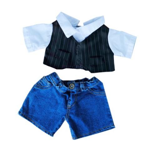 Tenue de soirée Gentleman  40 cm - La tenue idéale pour les peluches personnalisées ! Transformez votre