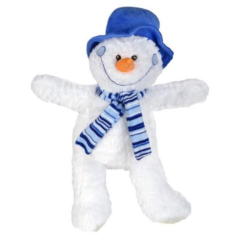 Icicle le Bonhomme de neige avec son chapeau et écharpe bleu 40 cm personnalisé