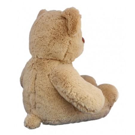 Coeur Brun l'ours 40 cm personnalisé