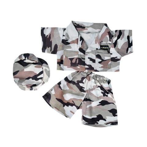 Tenue militaire camouflée désert - la tenue idéale pour les peluches personnalisées ! ,  40 cm  - La tenue idé