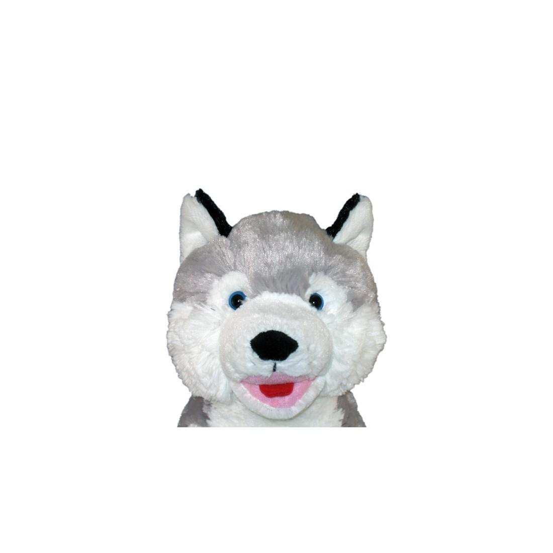 Croc-Blanc le Husky 40 cm personnalisé