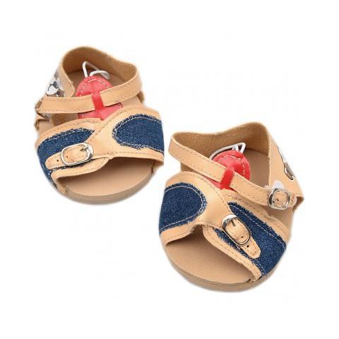 Chaussures Sandales marron clair et denim 40 cm