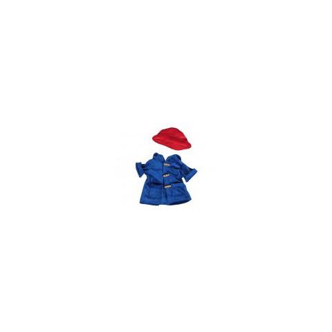 Tenue Manteau bleu avec chapeau rouge