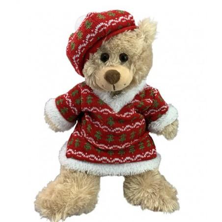 tenue festive de noël en tricot avec chapeau , 40 cm