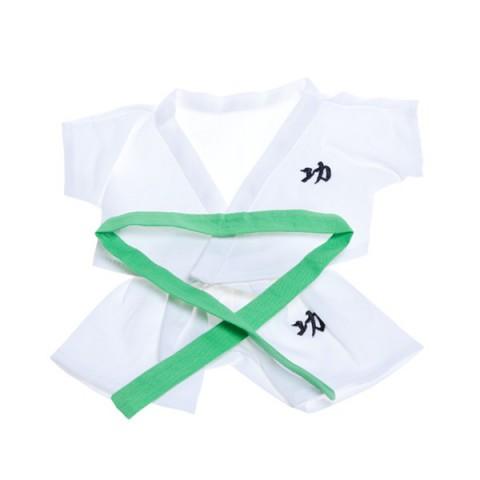 Kimono Judo ou Karaté avec ceintures de couleurs pour peluche de 40  cm
