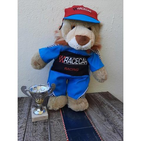Tenue pilote de course  40 cm - La tenue idéale pour les peluches personnalisées ! Transformez votre Teddy en un insépara