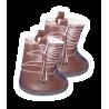 Bottes de cowboy marron foncé pour peluche de 40 cm