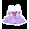 """Robe violette """"Cendrillon"""" avec ailes pour peluche de 40 cm"""
