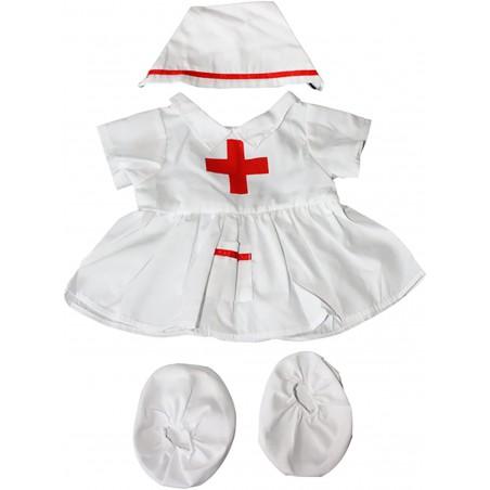 tenue d'infirmière pour peluche de 40 cm