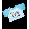 T-shirt bleu anniversaire pour peluche de 40 cm