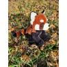Paprika le panda rouge peluche de 40 cm