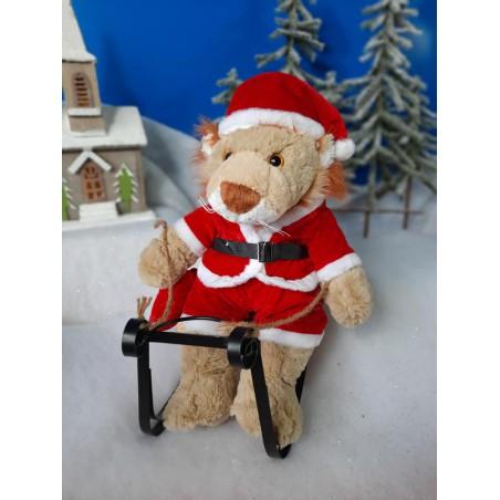 Tenue de Père-Noël pour peluche de 40 cm