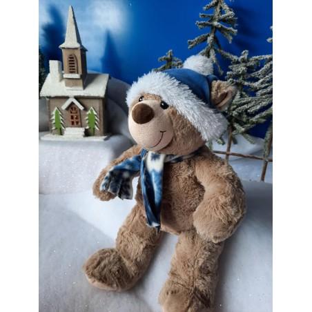Toboggan l'ours  peluche de 40 cm