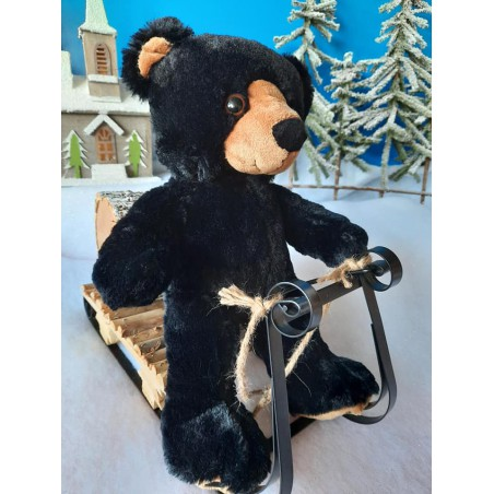 Benjamin l'ours noir peluche de 40 cm