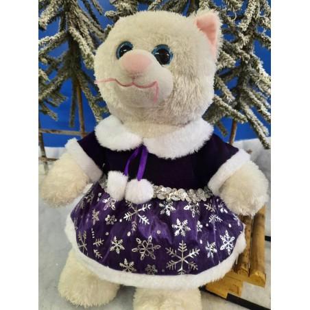 Tenue Robe violette Flocon de Neige pour peluche de 40 cm