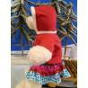 Tenue Robe Rouge Avec Flocon De Neige Pour Peluche De 40 cm