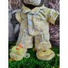 Pyjama Jaune Poussin Avec Pantoufles Pour Peluche De 40 cm