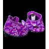 Chaussures Talons Hauts A Pois Violet / Rose