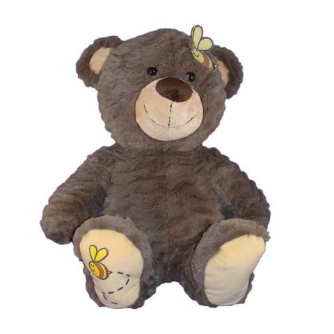 Abeille l'ours brun 40 cm personnalisé