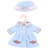 Chapeau et Manteau Bleu - Moyen 35 cm