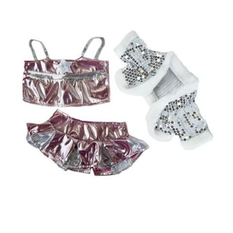 Tenue de Dance Glamour 40 cm - La tenue idéale pour les peluches personnalisées ! Transformez votre Teddy en un inséparable comp