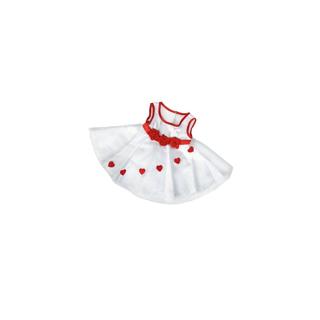 Robe demoiselle d'honneur  40 cm - La tenue idéale pour les peluches personnalisées ! Transformez votre Teddy en un inséparable
