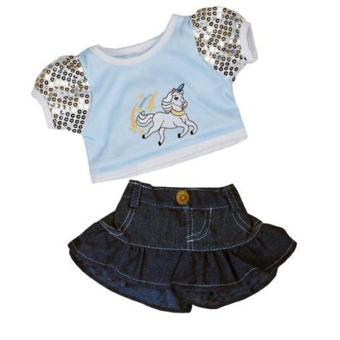 Tenue Licorne Brillante 40 cm - La tenue idéale pour les peluches personnalisées ! Transformez votre Teddy en un inséparable
