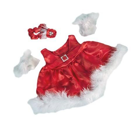 Robe soirée rouge avec gants  40 cm - La tenue idéale pour les peluches personnalisées ! Transformez votre Teddy en un inséparab