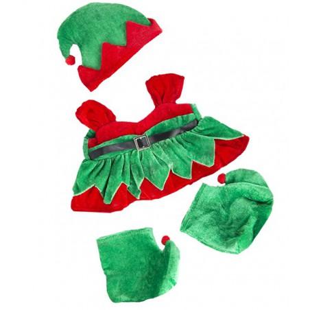 Tenue Elfe fille avec bottes et chapeau