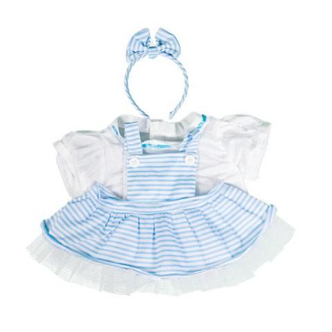 Robe Lolita bleue   40 cm - La tenue idéale pour les peluches personnalisées ! Transformez votre Teddy en