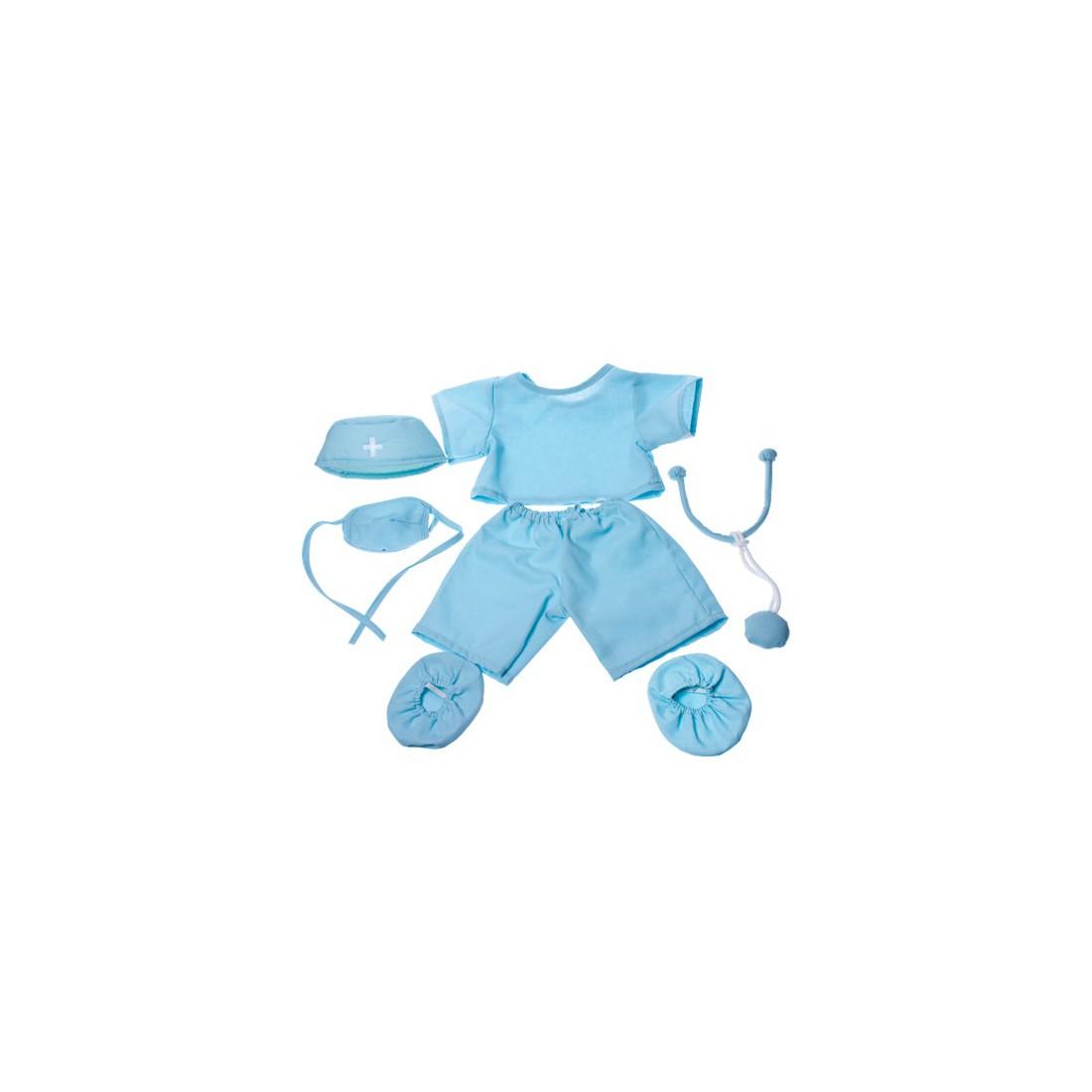 Tenue de docteur ou chirurgien   40 cm - La tenue idéale pour les peluches personnalisées ! Transformez votre