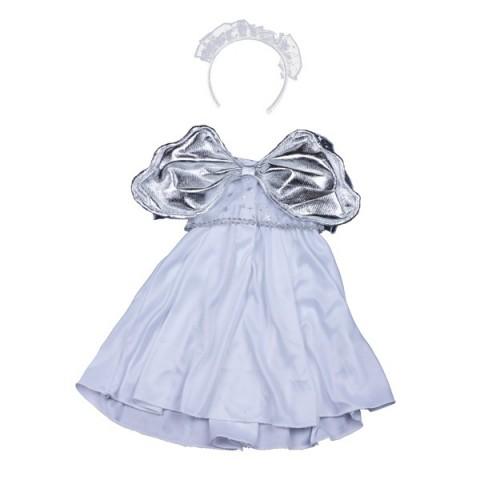 Robe ange argentée   40 cm - La tenue idéale pour les peluches personnalisées ! Transformez votre