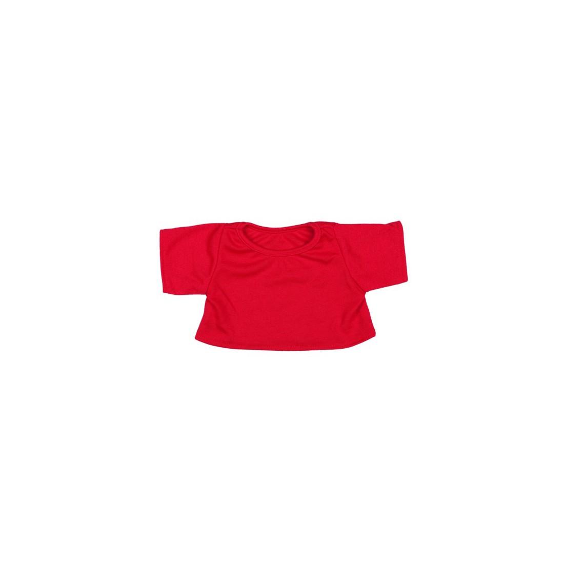 T-shirt Rouge 40 cm - La tenue idéale pour les peluches personnalisées ! Transformez votre