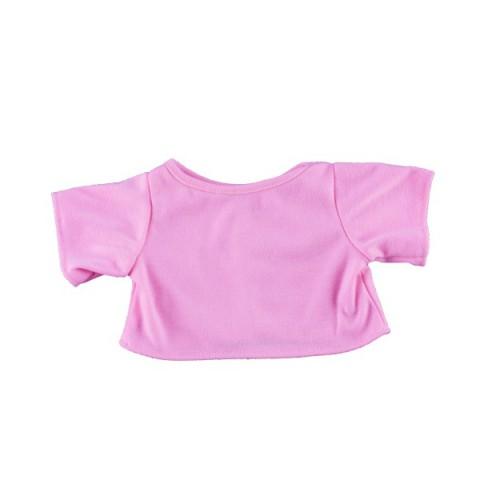 T-Shirt Rose 40 cm - La tenue idéale pour les peluches personnalisées ! Transformez votre