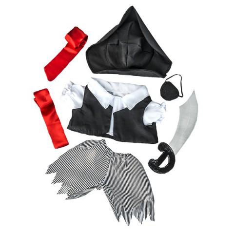 Tenue pirate garçon avec Épée,  40 cm  - La tenue idéale pour les peluches personnalisées !