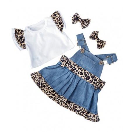 robe léopard avec t-shirt et noeud papillon