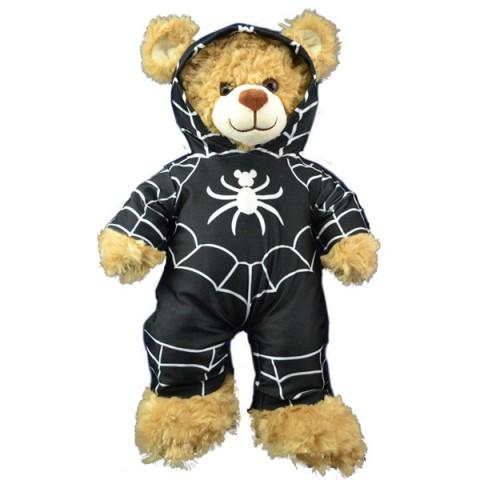 Combinaison spider man noir avec capuche 40 cm  - La tenue idéale pour les peluches personnalisées !