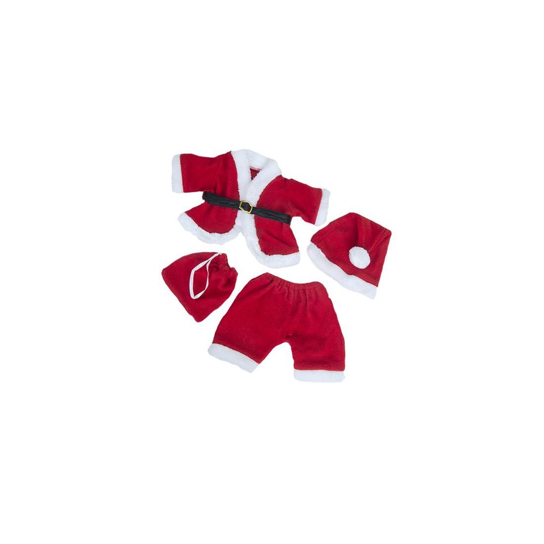Tenue de Père-Noël  - la tenue idéale pour les peluches personnalisées ! ,  40 cm  - La tenue idé
