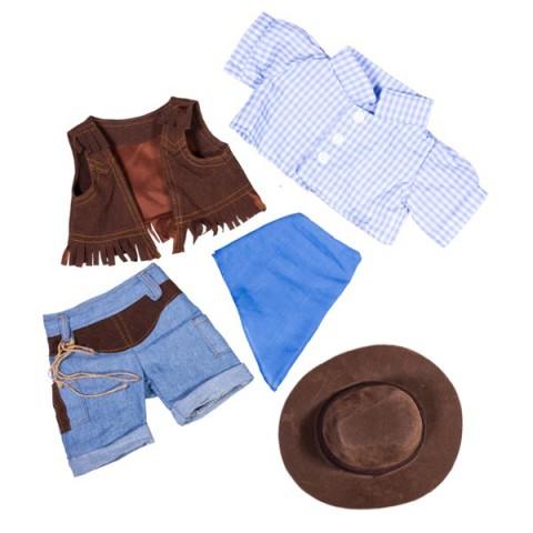 Tenue de Cowboy  - la tenue idéale pour les peluches personnalisées ! ,  40 cm  - La tenue idé