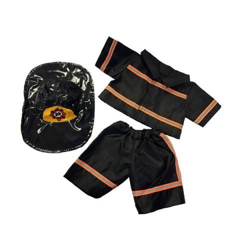 Tenue de Pompier noir  - la tenue idéale pour les peluches personnalisées ! ,  40 cm  - La tenue idé
