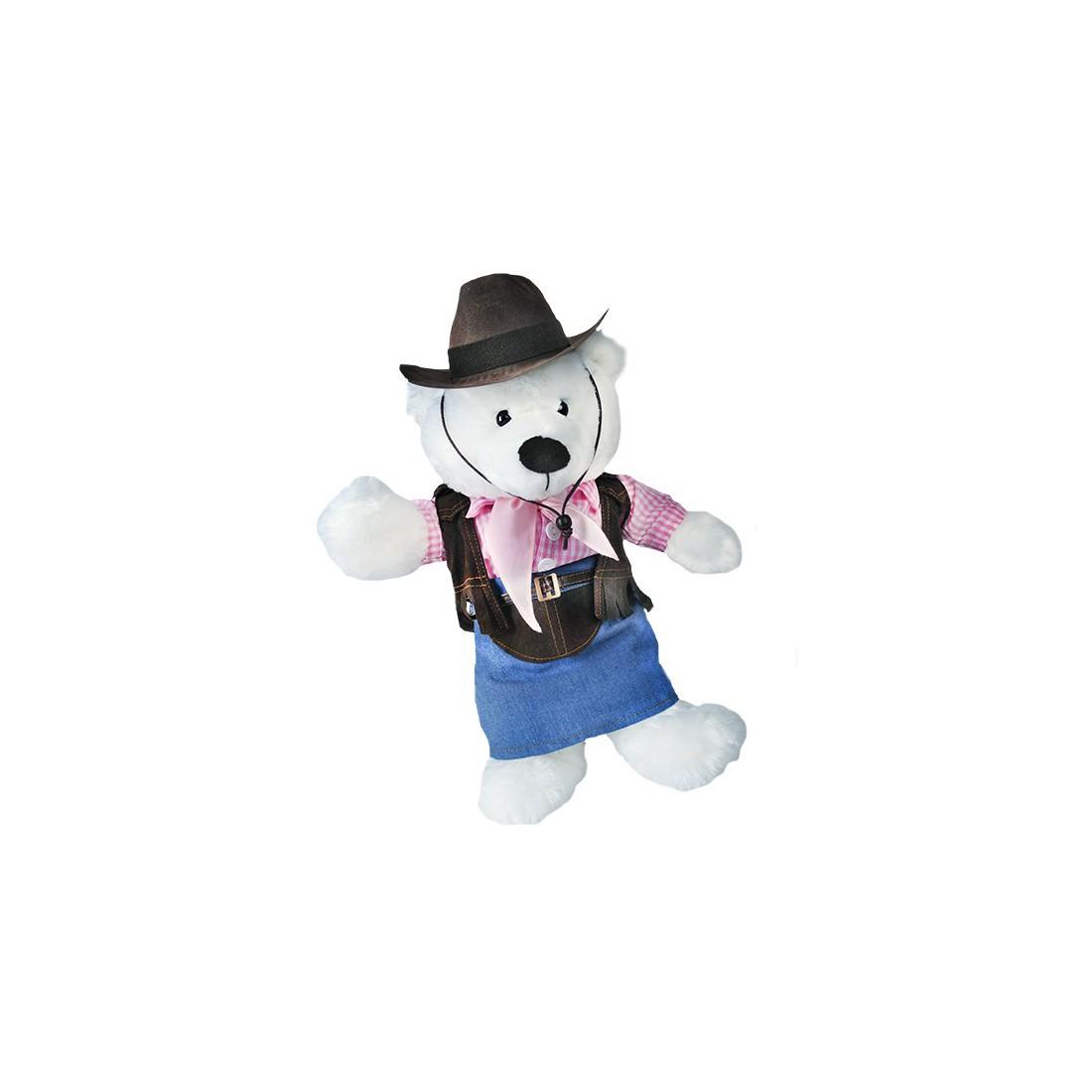Tenue de Cowgirl  - la tenue idéale pour les peluches personnalisées ! ,  40 cm  - La tenue idé