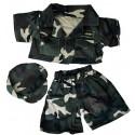 Tenue militaire camouflée - la tenue idéale pour les peluches personnalisées ! ,  40 cm  - La tenue idé