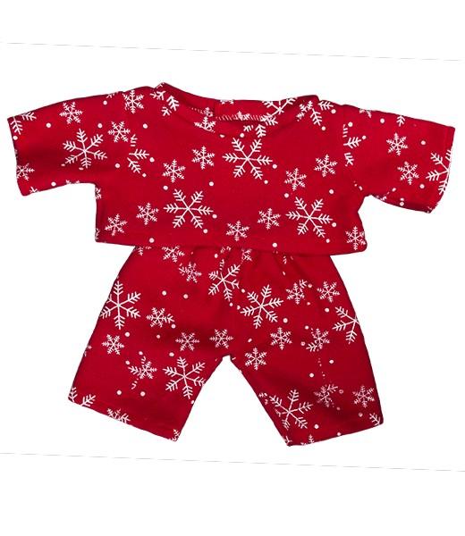 """pyjama rouge """"flocon de neige"""" - 40 cm"""