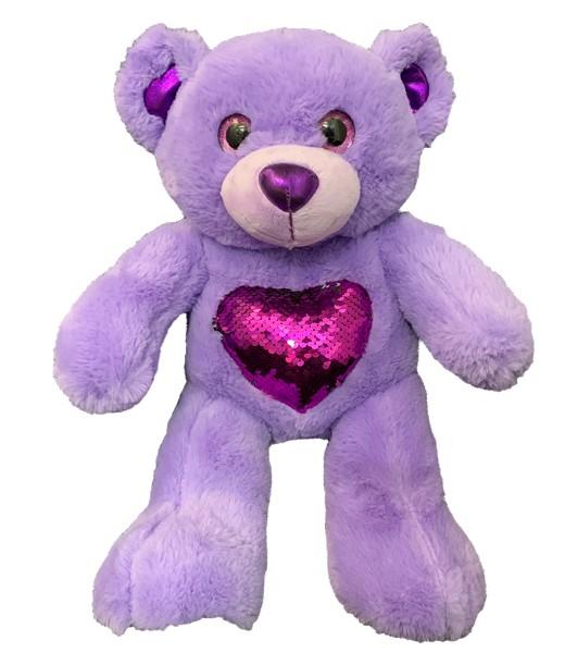 Glitz l'ours violet 40 cm
