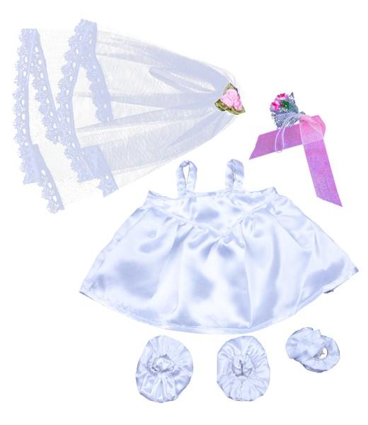 Robe de mariée avec voile & bouquet