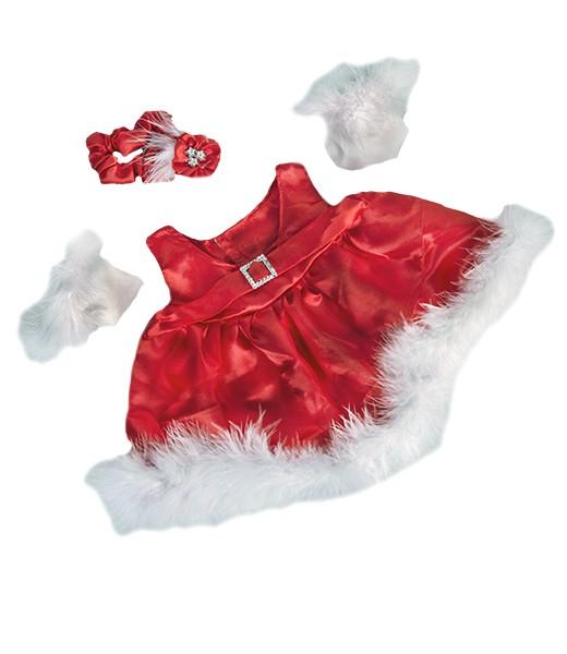 Robe soirée rouge avec gants