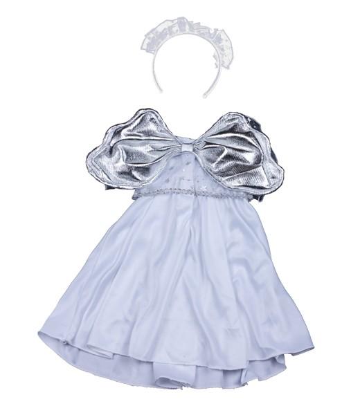 Robe ange argentée